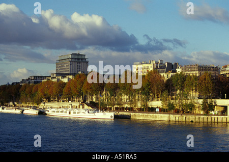 View Over the River Seine Near Quay D'Orsay, Paris, France - Stock Image