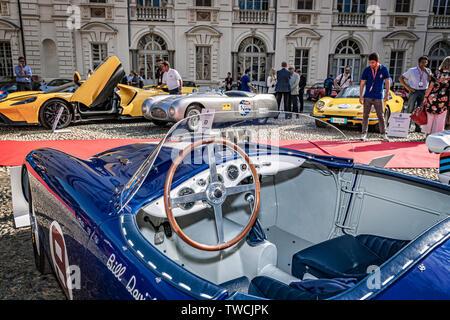 Piedmont Turin - Turin auto show 2019  - Valentino park - Valentino castle -Osca MT4 1450 - Stock Image
