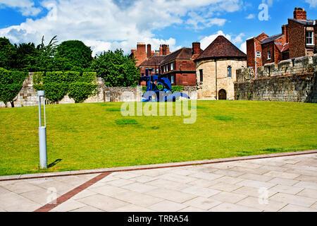 Marygate, Bootham, York, England - Stock Image