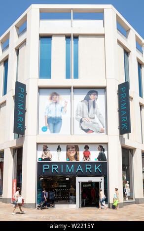 Primark store, primark shop fargate Sheffield South Yorkshire England uk gb Europe - Stock Image