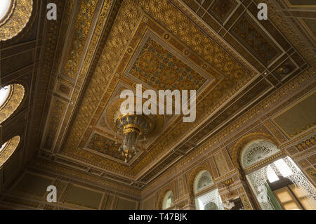 Azerbaijan, Baku, National Museum of History of Azerbaijan, interior ceiling - Stock Image