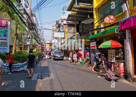 Soi Phetchaburi 19, Ratchathewi, Bangkok, Thailand - Stock Image