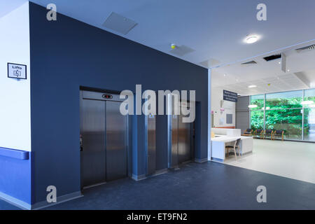 Commercial building two lifts entrance without people - Stock Image