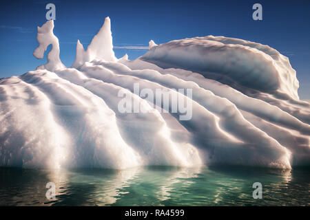 Ice Dragon in Disco Bay - Stock Image