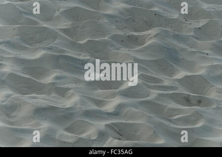 background texture of white sand dunes, Florianopolis, Brazil - Stock Image