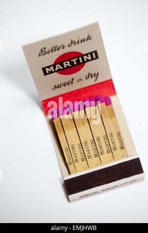 Vintage Matchbook advertising Martini Sweet and Dry - Stock Image