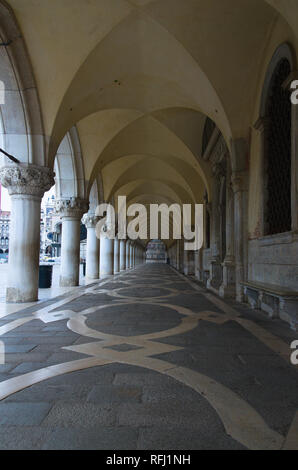 Porch on the Doges palace Venice - Stock Image