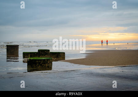 Setting up for sand racing at Mablethorpe - Stock Image