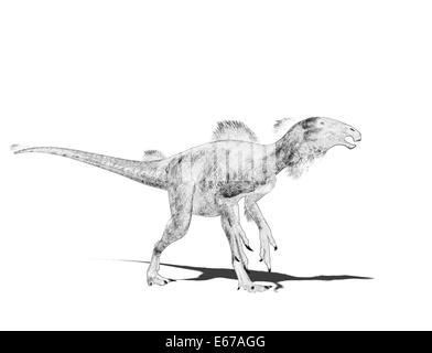 Dinosaurier Beipiaosaurus / dinosaur Beipiaosaurus - Stock Image