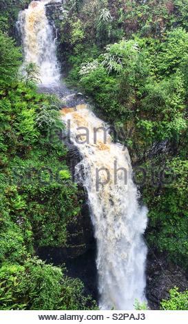 Glenashdale Falls, Whiting Bay, Arran, Scotland - Stock Image