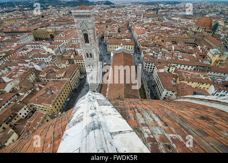Aerial view, Florence, Italy, Europe. - Stock Image