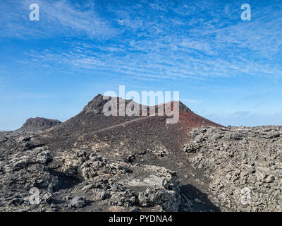 A small crater at Stampar Crater Row, Reykjanes Peninsula, Iceland - Stock Image