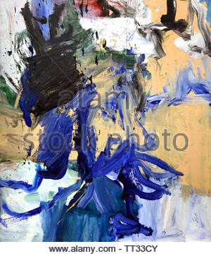 Untitled by Willem de Kooning born 1904 Dutch American abstract expressionist artist. - Stock Image