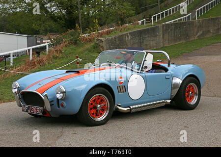AC Cobra (1967), British Marques Day, 28 April 2019, Brooklands Museum, Weybridge, Surrey, England, Great Britain, UK, Europe - Stock Image