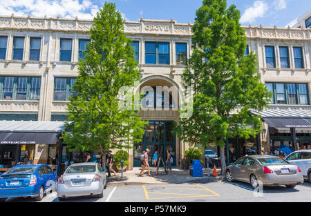 ASHEVILLE, NC, USA-24 JUNE 18: The Grove Arcade, comprising an entire city block in downtown Asheville. - Stock Image