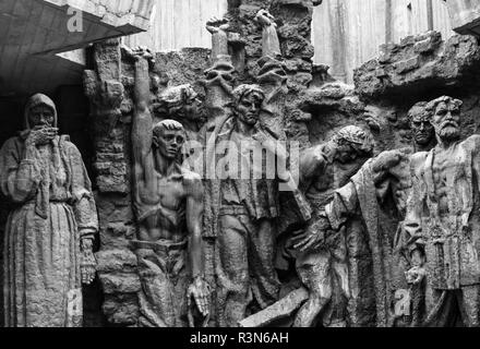Sculpture depicting the Nazi occupation at the National Museum of the History of Ukraine in the Second World War. - Stock Image