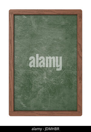 3D render of a Chalkboard with dark wooden frame. Scratched and worn texture. Blank for Copy Space. - Stock Image