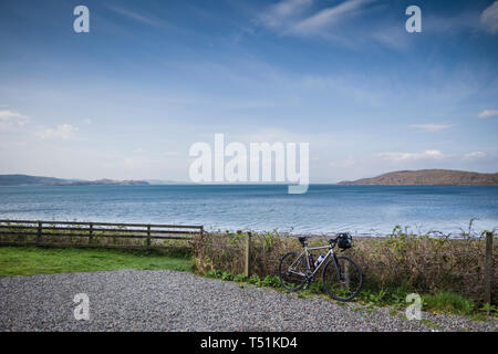 Ledaig, on the Oban to Fort William cycle route, west coast of Scotland. - Stock Image