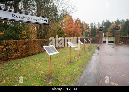 Russian field of honor at the Rusthof Amersfoort Crematorium and Cemetery - The Netherlands - Stock Image
