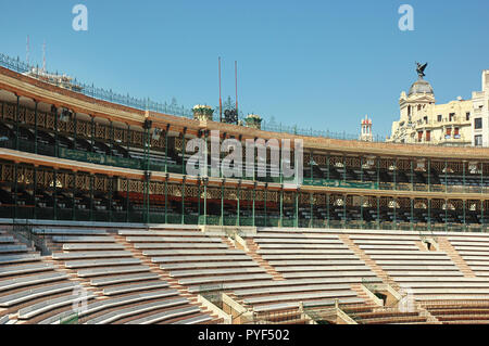 Plaza de Toros de Valencia, bullring in architectural style similar to the Roman Colosseum, now arena for concerts, outdoor shows and festivals, Spain - Stock Image