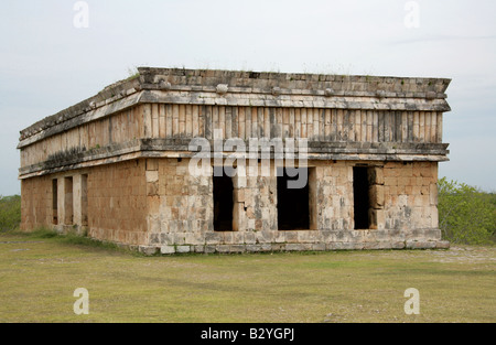 House of the Turtles, Uxmal Archaeological Site, Uxmal, Yucatan State, Mexico - Stock Image