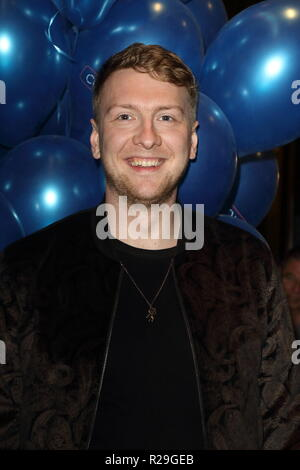 Company - opening VIP night at the Gielgud Theatre, Shaftesbury Avenue, London  Featuring: Joe Lycett Where: London, United Kingdom When: 17 Oct 2018 Credit: WENN.com - Stock Image