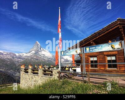 Matterhorn, Zermatt, Switzerland from Hotel Riffelalp - Stock Image