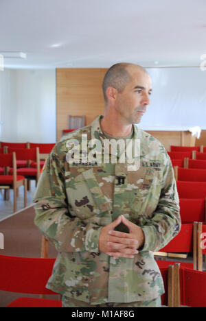 California Army National Guard and active duty Army chaplains gathered for field training before the #AlliedSpirit - Stock Image
