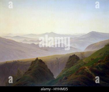 Caspar David Friedrich   Morning in the Mountains   WGA08263 - Stock Image