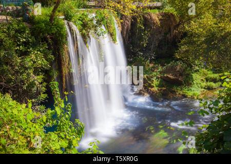 Duden waterfall park in Antalya city in Turkey - Stock Image