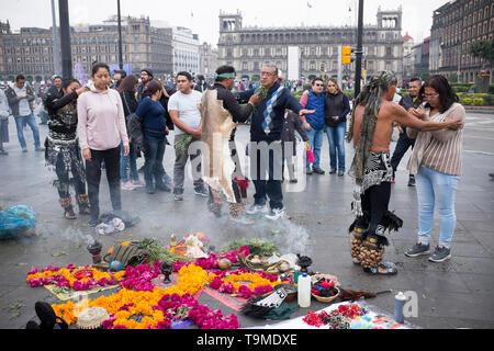 Spiritual Cleansing Zócalo Mexico City - Stock Image