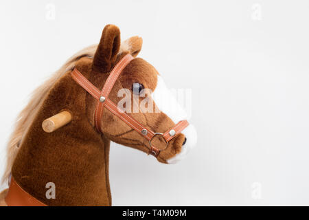 Detail of pony horse toy for children. - Stock Image