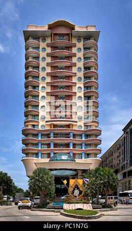 Thailand hotel. Long Beach hotel Pattaya Southeast Asia - Stock Image