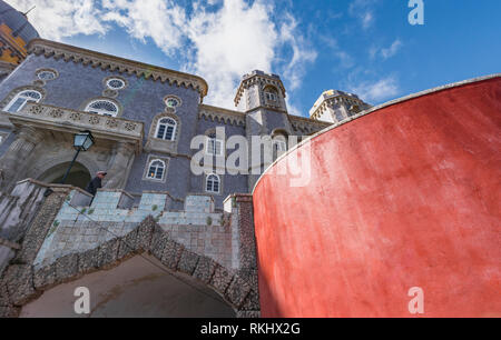 View on Pena Palace. Sintra, Portugal - Stock Image
