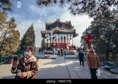 Guanmiao Pavilion in Jingshan Park in Beijing, China - Stock Image