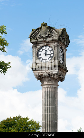 Stirling Clock at junction of King's Park Road with St Ninian's Road, Scotland - Stock Image