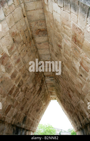 Arched Entrace to the Nunnery Quadrangle, Uxmal Archealogical Site, Yucatan, Mexico - Stock Image