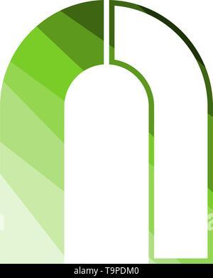 Magnet Icon. Flat Color Ladder Design. Vector Illustration. - Stock Image