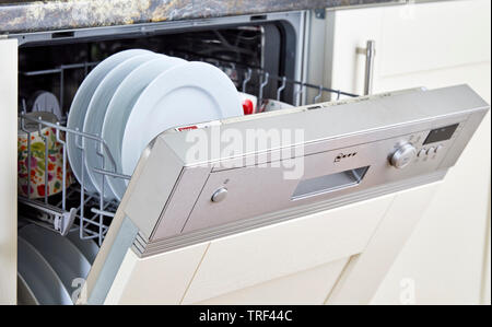 Clean dishwasher - Stock Image