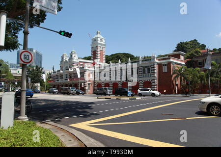 Central Fire Station, Singapore - Stock Image
