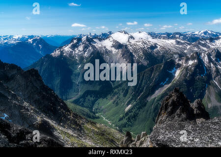 A view towards the Battle Range, Selkirk Mountains, British Columbia, Canada - Stock Image