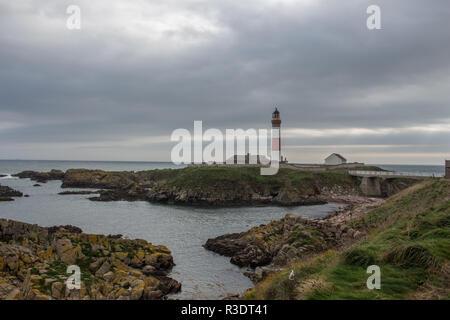 Buchan Ness Lighthouse, Boddam, Aberdeenshire, Scotland, UK - Stock Image