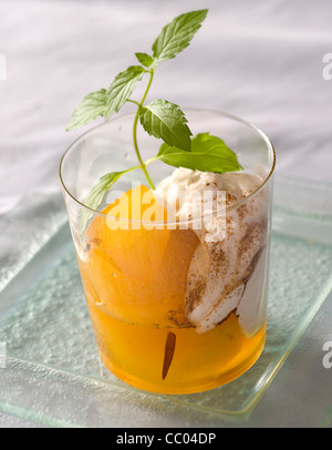 Apples with Cinnamon - Stock Image