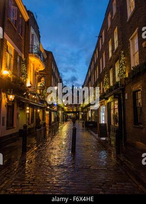 Newburgh Street Christmas lights - Stock Image