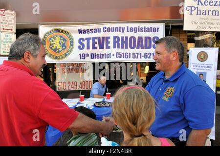 Bellmore, New York, USA. 20th September 2015. Nassau County Legislator STEVE RHOADS (Republican - 19th District - Stock Image