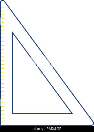 Icon of Triangle. Thin line design. Vector illustration. - Stock Image