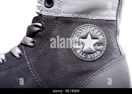Chuck Taylor All stars casual leisure shoe grey sneaker - Stock Image