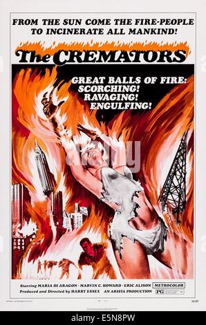 THE CREMATORS, U.S. poster art, 1972 - Stock Image