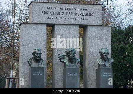 Errichtung der Republik Memorial, Vienna, Austria. - Stock Image