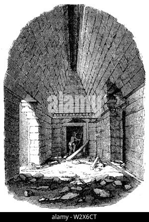 Room in the Casa de las Monjas at Izamal. According to Catherwood, ,  (anthropology book, 1874) - Stock Image